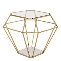 Gold Side Table | Eichholtz Asscher