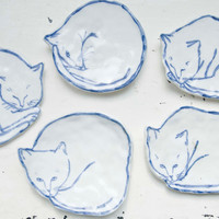 Cat Dish 2 by leahgoren on Etsy