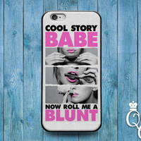 iPhone 4 4s 5 5s 5c 6 6s plus iPod Touch 4th 5th 6th Generation Cool Story Babe 420 Fun Funny Custom Phone Cover Pink White Cute Gift Case
