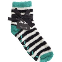 Colorblock Fuzzy Socks with Aloe