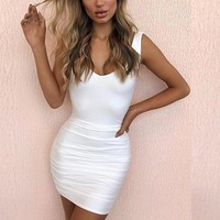 Sinched Open-Back Party Dress