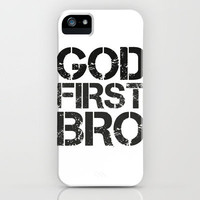 God First Bro iPhone Case by productoslocos | Society6