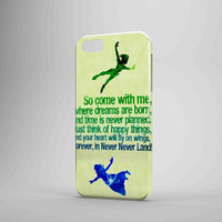 Peter Pan Disney Quote iPhone Case Galaxy Case 3D Case