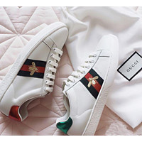 GG Old Skool Women Fashion Embroidery Bee Sneakers Sport Shoes