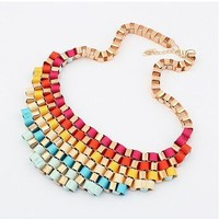 Stylish New Arrival Shiny Gift Jewelry Gradient Vintage Metal Necklace [6586254855]