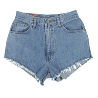 Rokit Recycled Blue Denim Shorts W26 | Shorts | Rokit Vintage Clothing