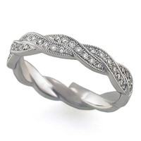 Twisted Stackable Diamond Ring Steven Singer Jewelers