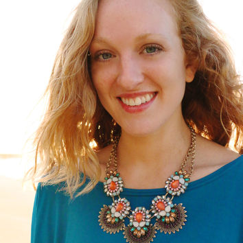 Sunset Beach Statement Necklace
