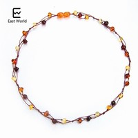 EAST WORLD Natural Amber Jewelry Flower Multicolor Baltic Amber Bead Necklace for Women Unique Gift Adult Necklace Etsy Supplier