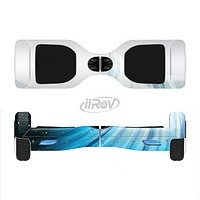 The Black and Blue Highlighted HD Wave Full-Body Skin Set for the Smart Drifting SuperCharged iiRov HoverBoard