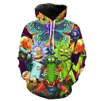 Rick And Morty Fashion Hip Hop Streetwear Hoodie