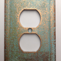 Outlet Cover - Aged Copper/Patina or Stone