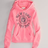 AE NYC Fleece Hooded Popover | American Eagle Outfitters