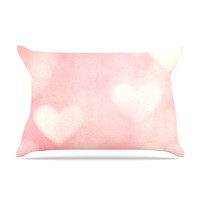 """Heidi Jennings """"Love is in the Air"""" Pink Pillow Case"""