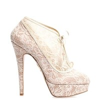 CHARLOTTE OLYMPIA Minerva lace ankle boots