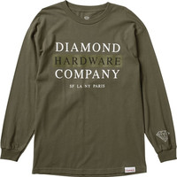 Diamond Hardware Stack Longsleeve Medium Military Green