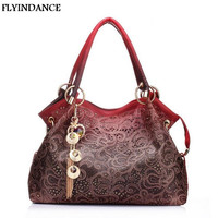 FLYINDANCE Brand 2017 women messenger bags beautiful Women Handbag fashion printing  Flowers bag sweet women bag