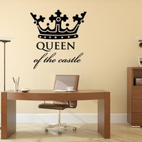 Wall Quote Queen of the Castle Vinyl Wall Decal Graphics Home Decor