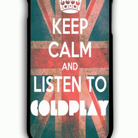 iPhone 6 Plus Case - Hard (PC) Cover with Stay Calm and Listen to Coldplay Plastic Case Design