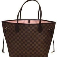 Tagre™ ONETOW Louis Vuitton Neverfull Mm Brand New! Rose Ballerine Tote Bag