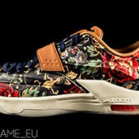 NIKE KD 7 VII EXT QS FLORAL 726438-400 sz: 9.5 US NEW DS