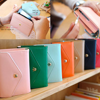 New Multifunctional Envelope Wallet Purse Phone Case for Iphone 4 4S Galaxy SII