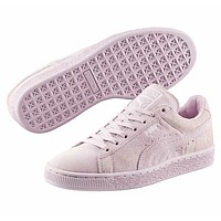 Puma Suede Classic Emboss Lilac Snow Violet 363056 08 Womens Size 6