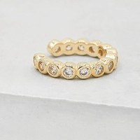 No Piercing Bezel Ear Cuff - Gold