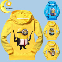 2016 new kids boys clothes girls t shirts cotton minions children clothing spring unisex tops & tees kids long sleeve t shirts