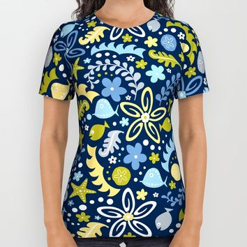Tidal Pool All Over Print Shirt by Heather Dutton