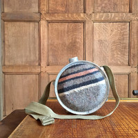Vintage Canteen, Wool Canteen, Vintage Camping Gear, Vintage Home Decor