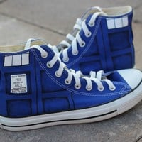Doctor Who Shoes-Free Shipping Hand Painted Shoes
