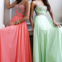 Strapless Beaded Gown by Sherri Hill