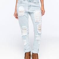 ALMOST FAMOUS Distressed Rolled Cuff Womens Skinny Jeans   Skinny