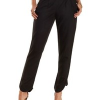 Pleated Dolphin Hem Trousers by Charlotte Russe