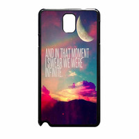 Perks Of A Wall Flower Quote Design Vintage Retro Samsung Galaxy Note 3 Case