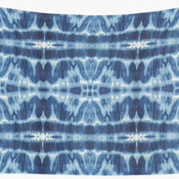 'Tie-Dye Blues Twos' Wall Tapestry by Nina May