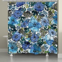 Eclectic Blooms Shower Curtain