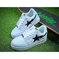 Bape Sta Sneakers White Black Shoes