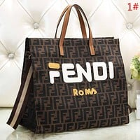 Fendi Fashion New More Letter Leather Handbag Shoulder Bag Women