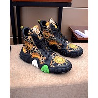 VERSACE  Men Fashion Boots fashionable Casual leather Breathable Sneakers Running Shoes12