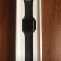 ONETOW Apple iWatch Series 2 42mm -?Space Gray Aluminum Case with Black Sport Band