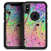 Neon Color Fushion with Black splatters - Skin Kit for the iPhone OtterBox Cases