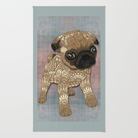Pug Puppy Rug by ArtLovePassion