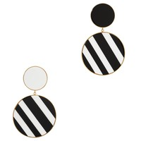 Monochrome Statement Earrings