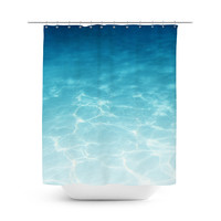 Blue Ombre Waters - Shower Curtain