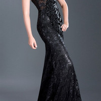 Black Label Couture 23 Sequin Lace Evening Gown Prom Dress
