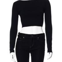 Susana Monaco Long Sleeve Crop Top | Crop Top