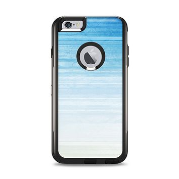 The Fading Light Blue Streaks Apple iPhone 6 Plus Otterbox Commuter Case Skin Set