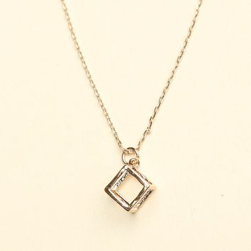 OPEN CUBE NECKLACE